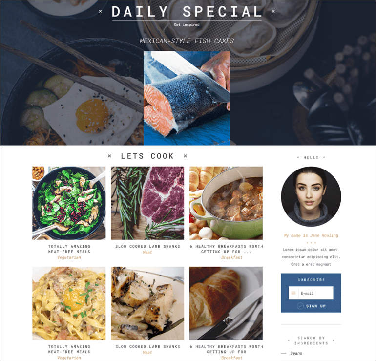 a-recipes-wordpress-theme