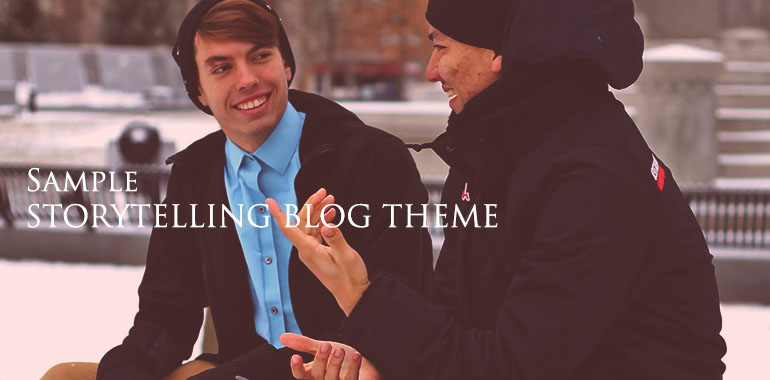 A STORYTELLING BLOG THEME