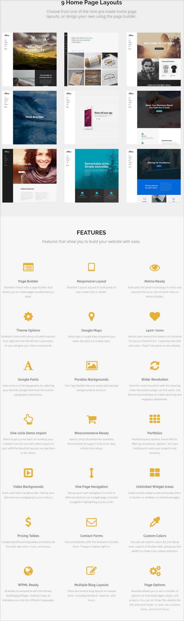 bramble-wordpress-theme-layouts-page