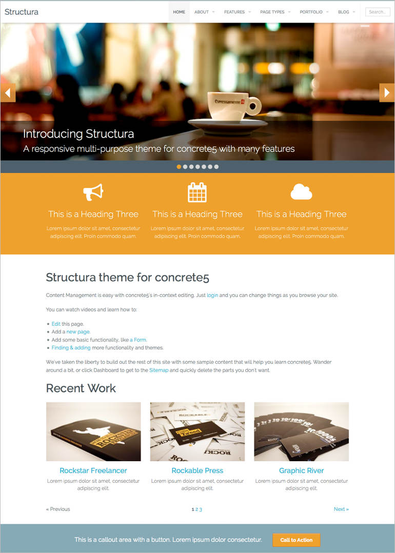 main-page-demo-of-the-concrete-theme
