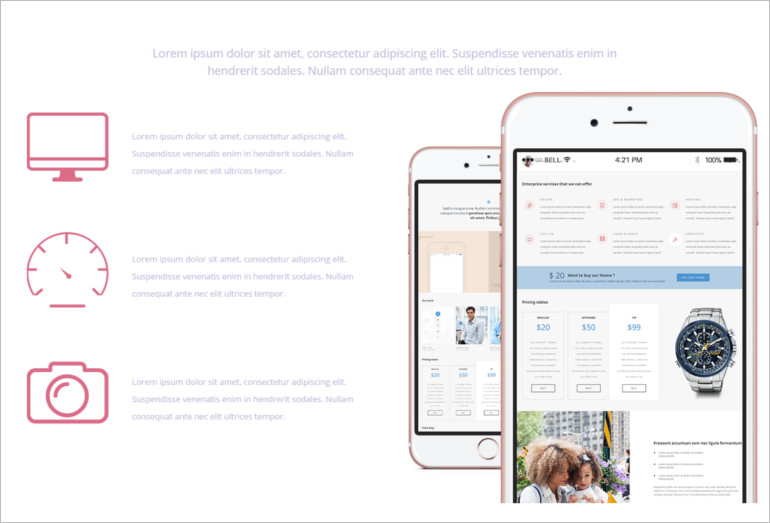 Sample mobile-view-the-responsive-theme