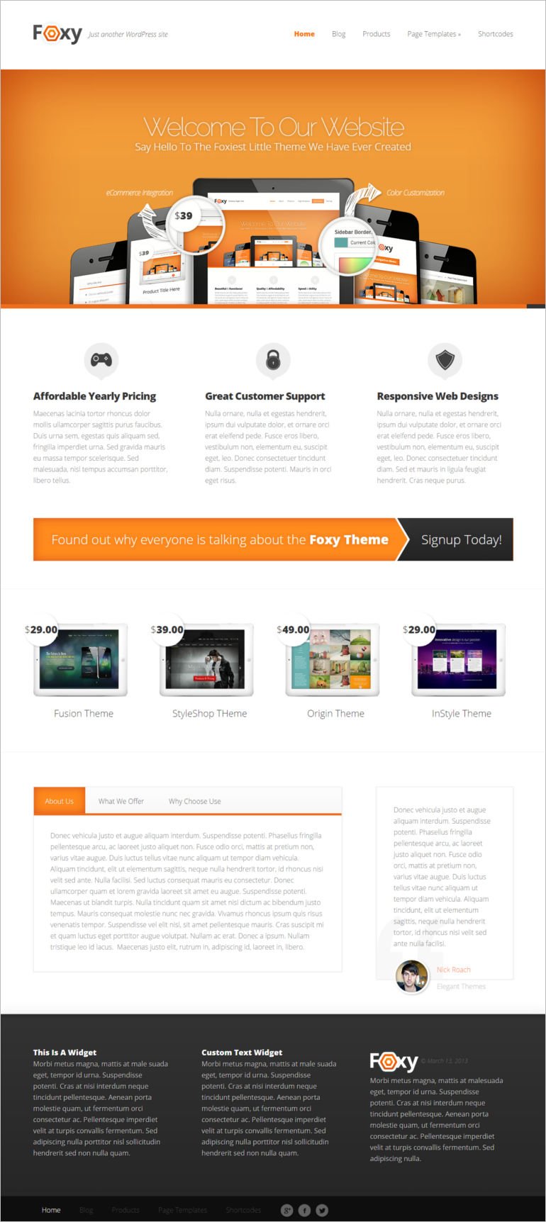 foxy-is-a-sleek-wordpress-theme