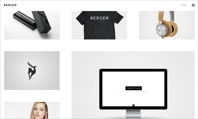Berger creative theme and template