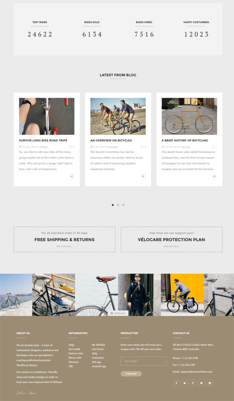 Bike Store Responsive Business Theme specially designed