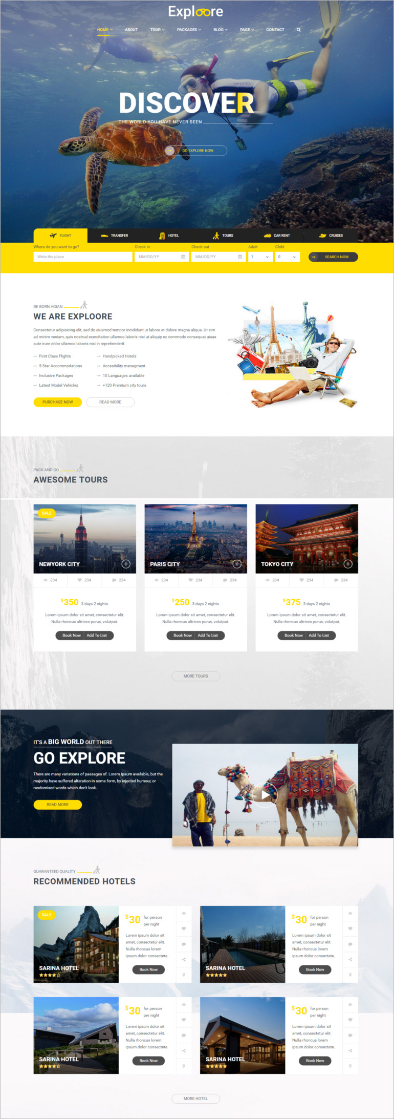 Booking HTML Template of all time