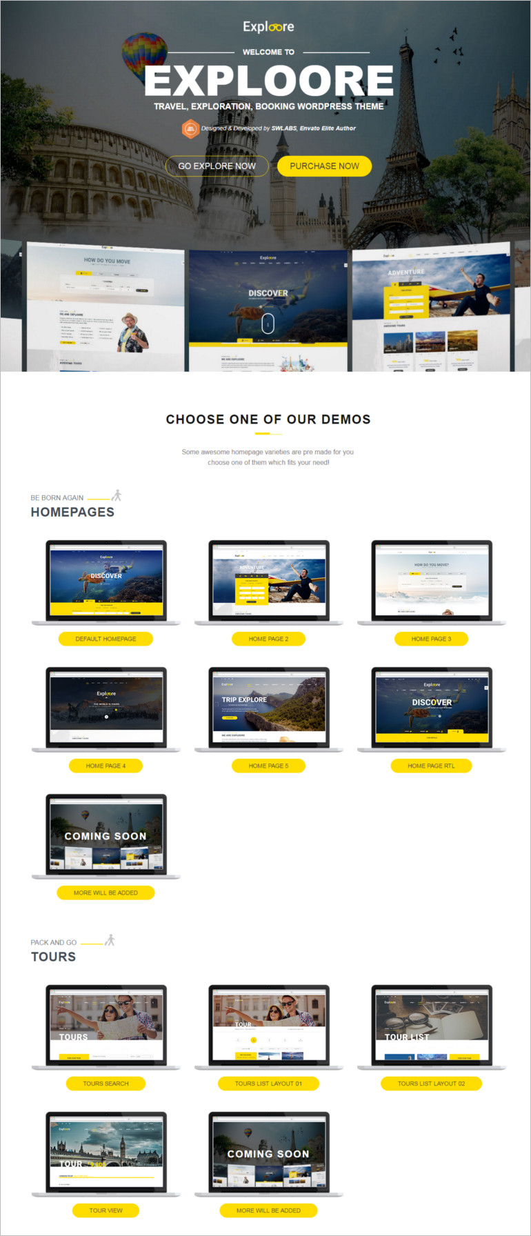 EXPLOORE booking wordpress theme