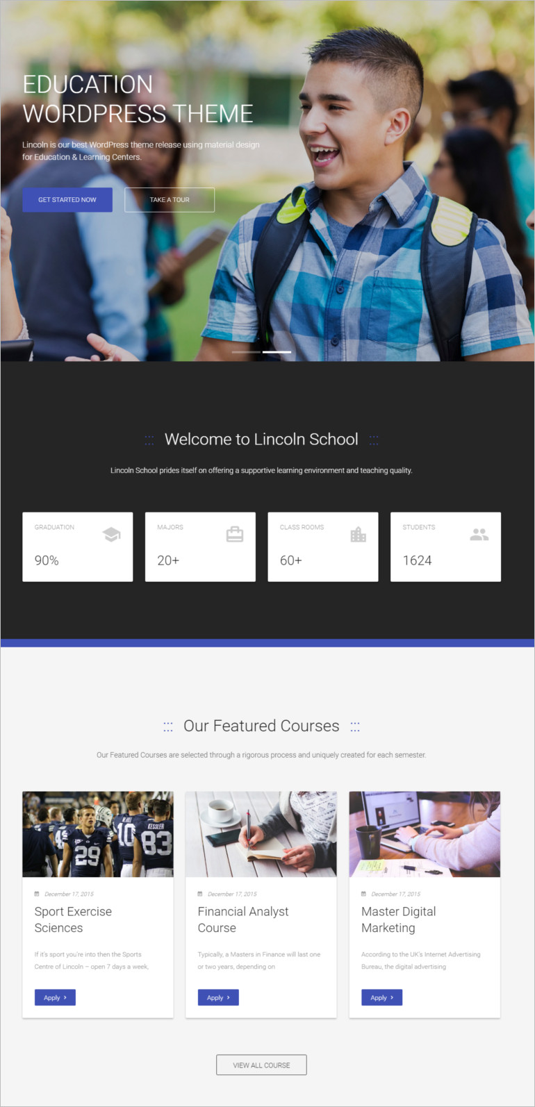 Education Material Design WordPress Theme