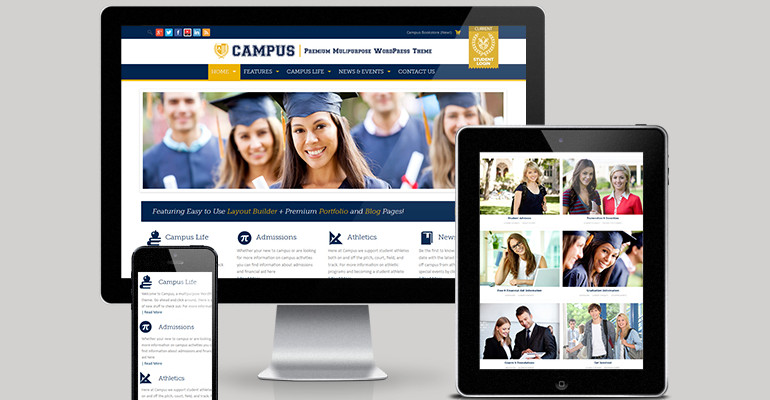 Education wordpress theme and template