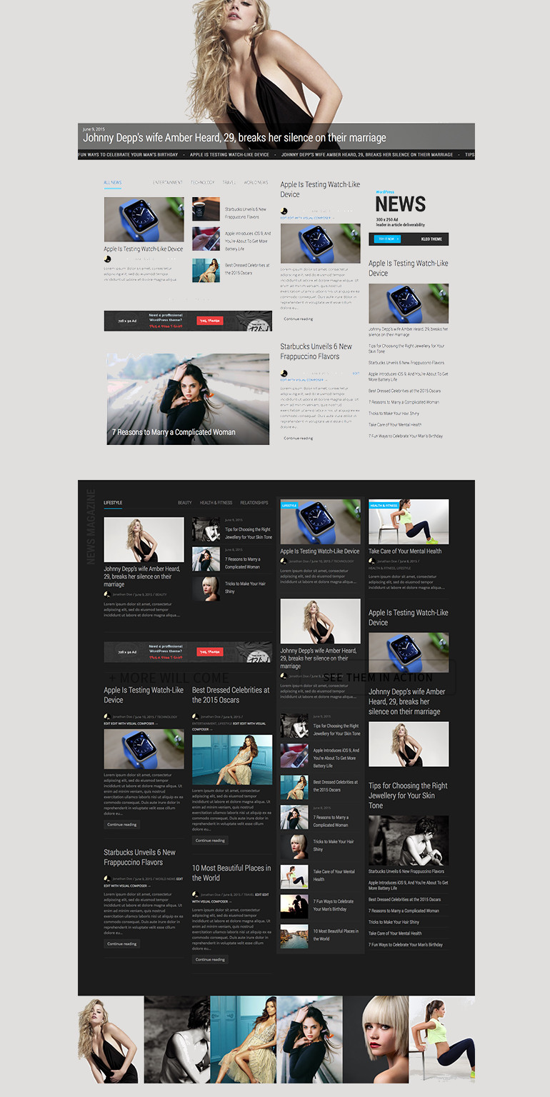 KLEO wordpress theme and template