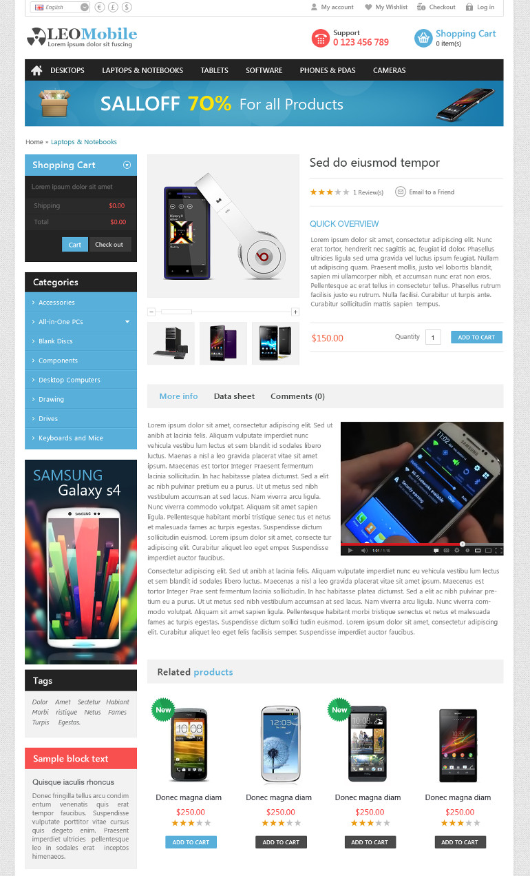 Leo Mobile is extremely powerful Prestashop theme