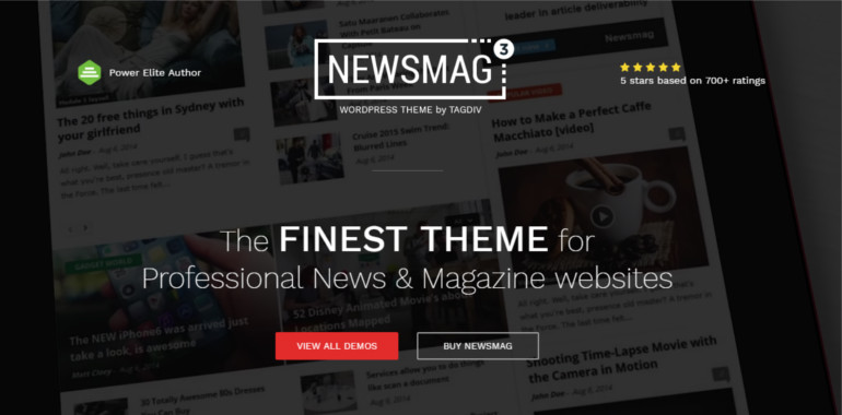 Newsmag is a modern WordPress theme