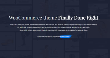 Nitro is the only WooCommerce theme you will need