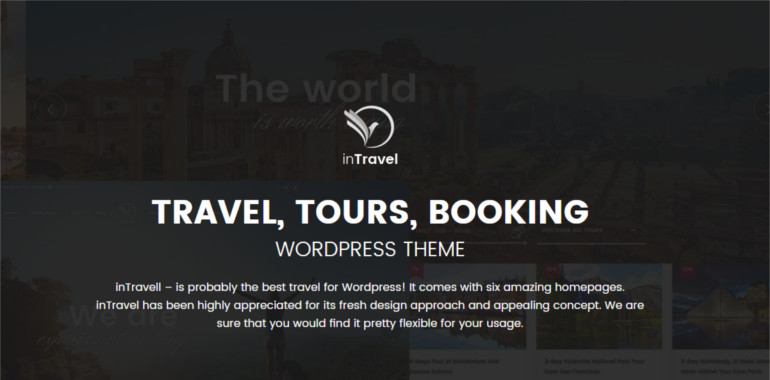Travel WordPress Theme for all services