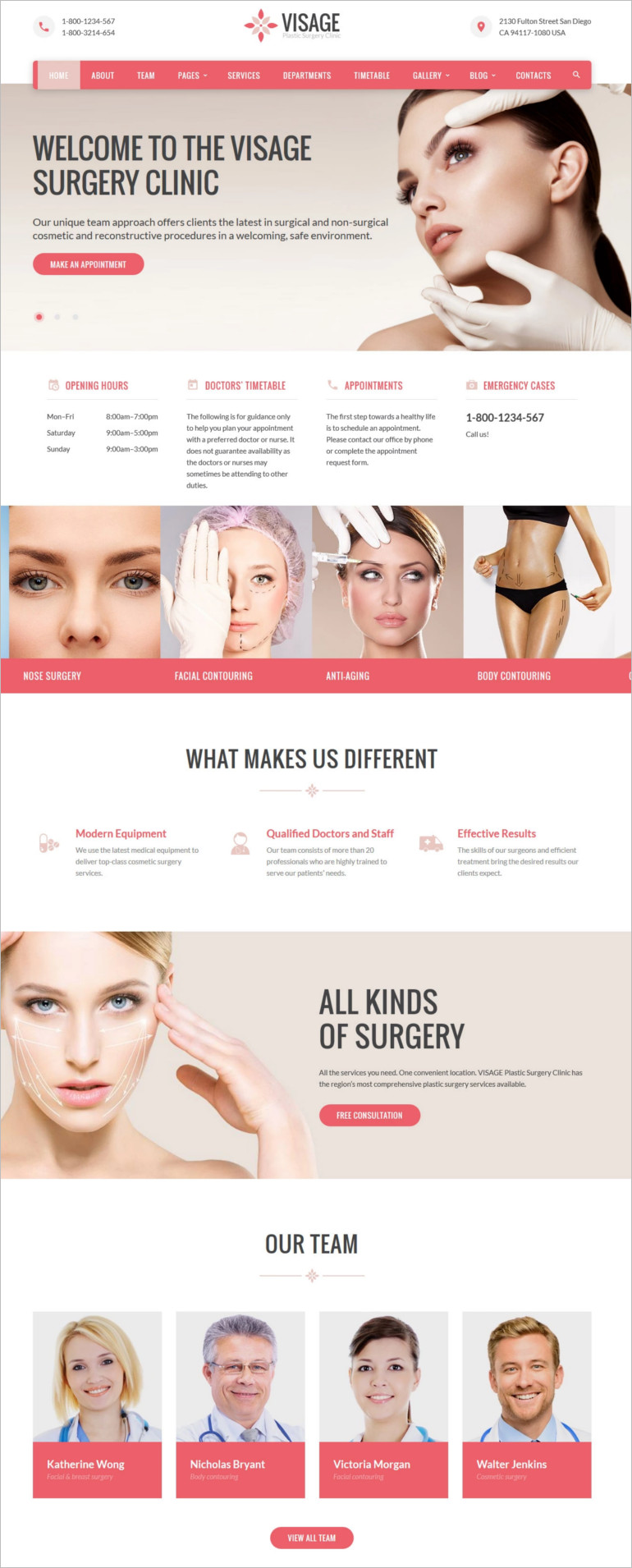website-clinic-template