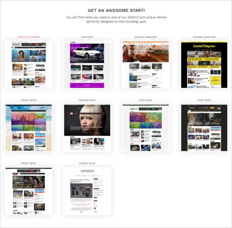 articles and blog posts wordpress theme
