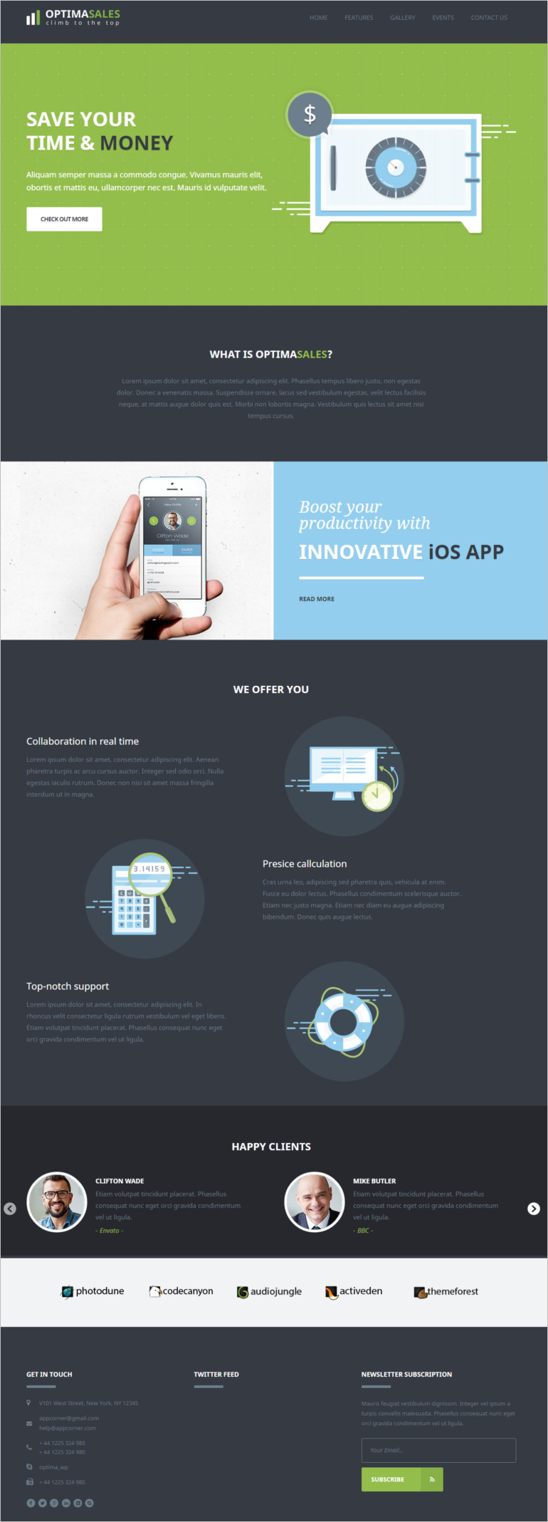 corporate website or for landing page