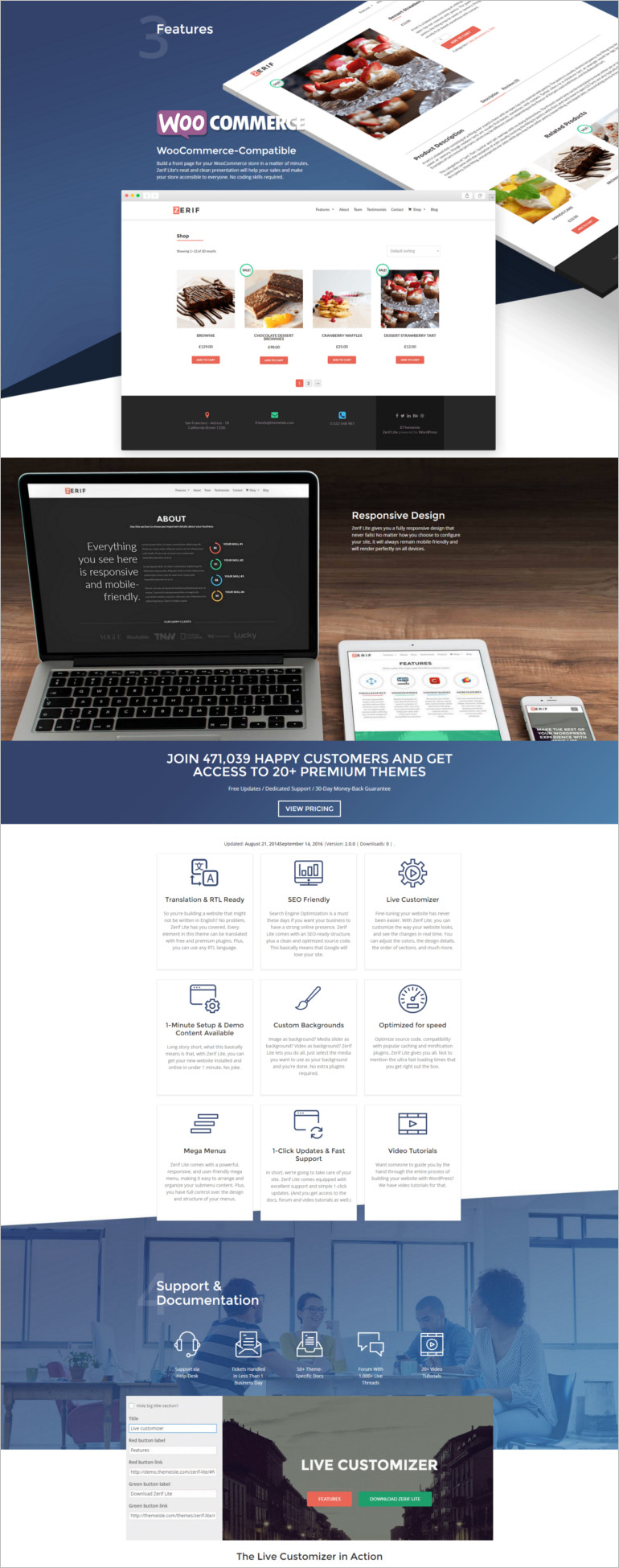 friendly one-page WordPress multipurpose theme