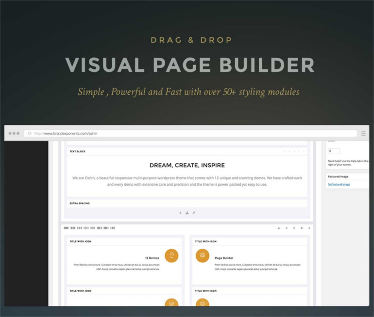 page builder with ultimate options