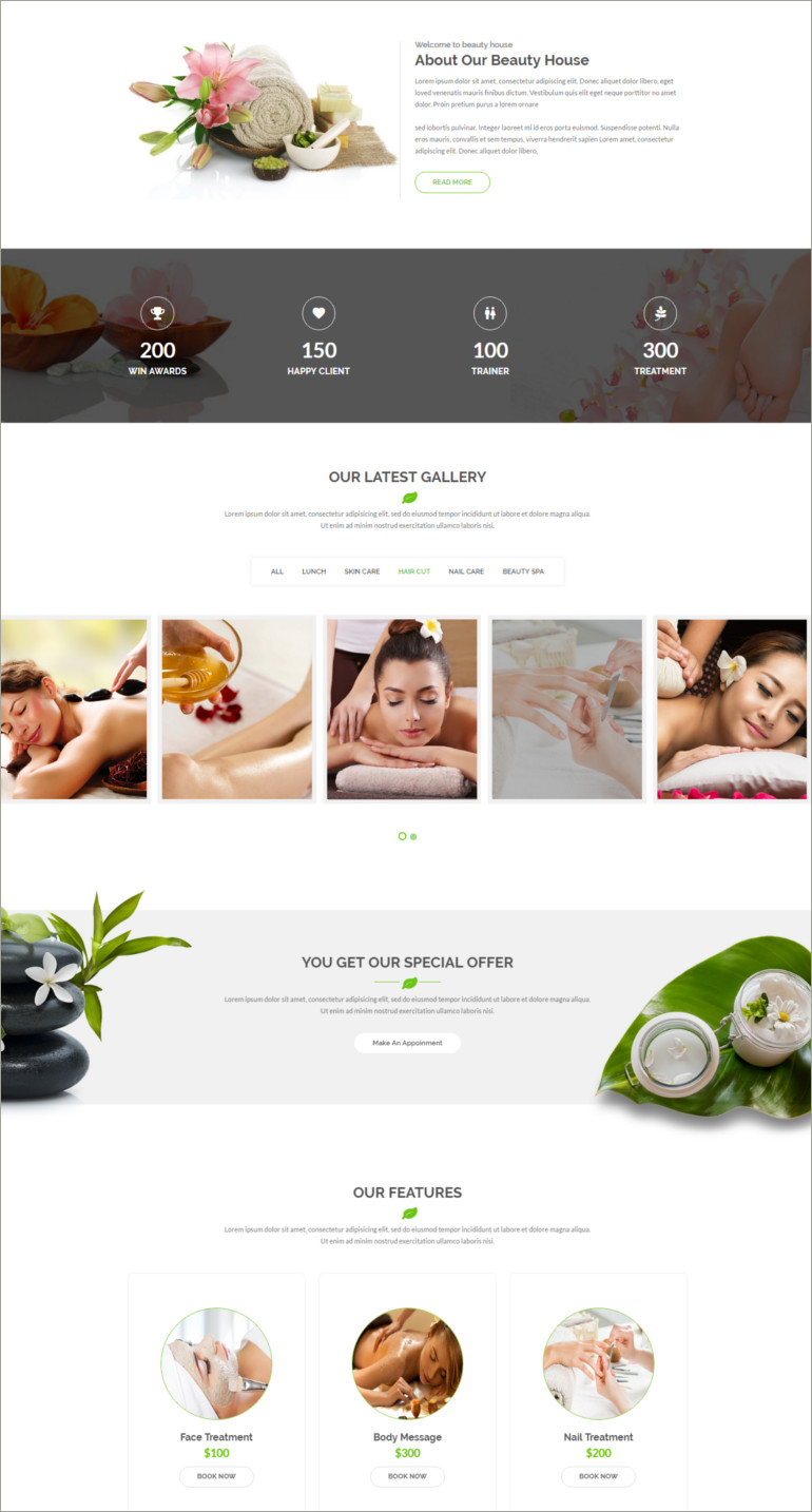 beauty health template