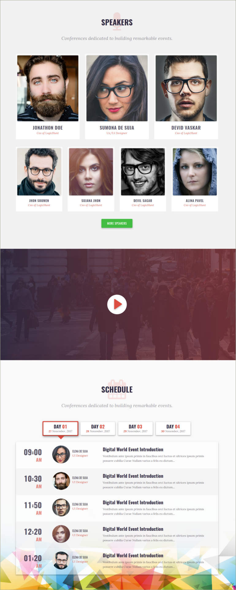 bootstrap theme for conference