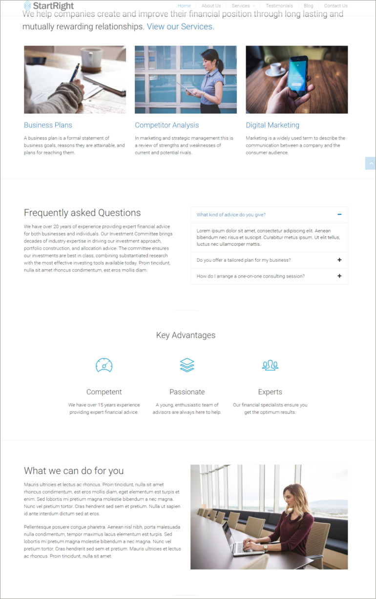 business agency theme