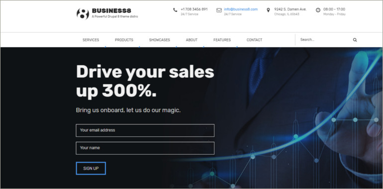 business drupal 8 theme