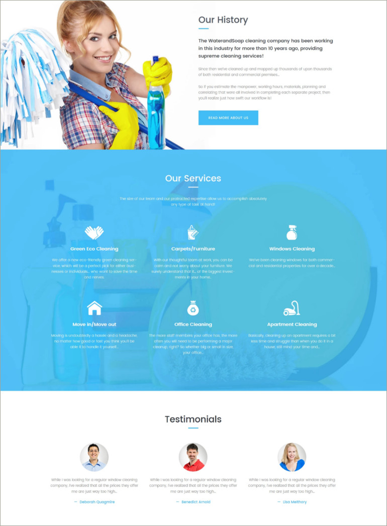 cleaning service wp theme