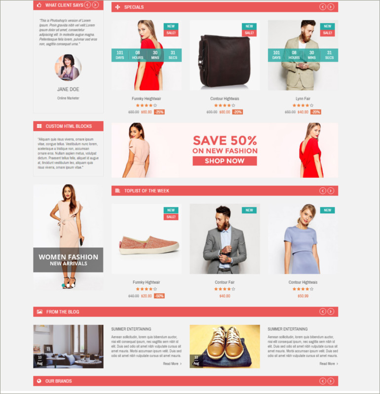 clothes online shop theme