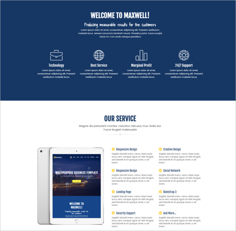 corporate site template