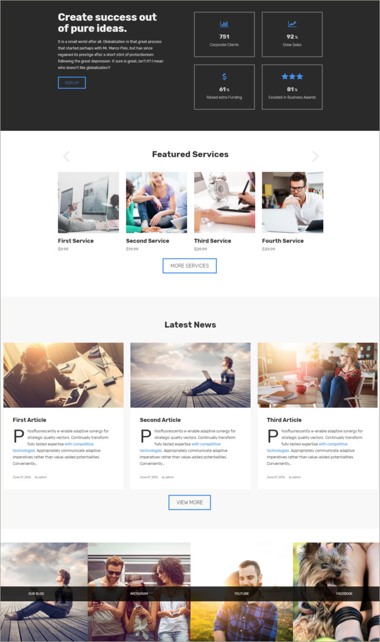 drupal business theme