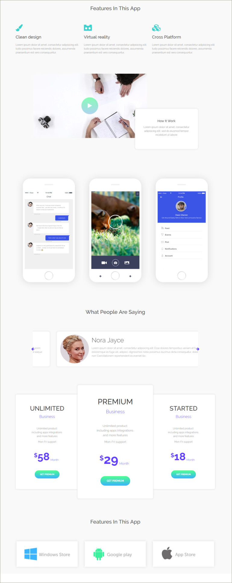 e buy html5 landing page template