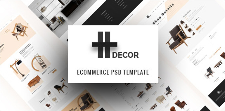 e commerce psd template