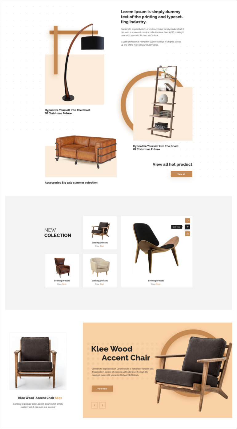 e commerce psd theme