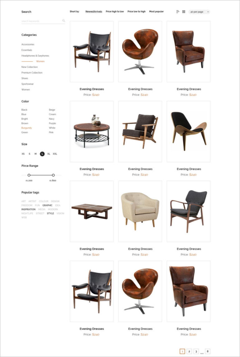 e commerce site theme