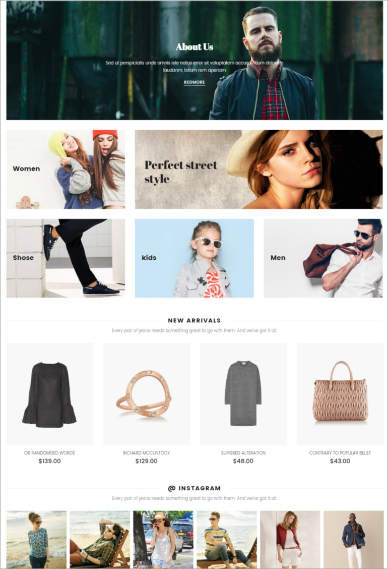 ecommerce apparal template