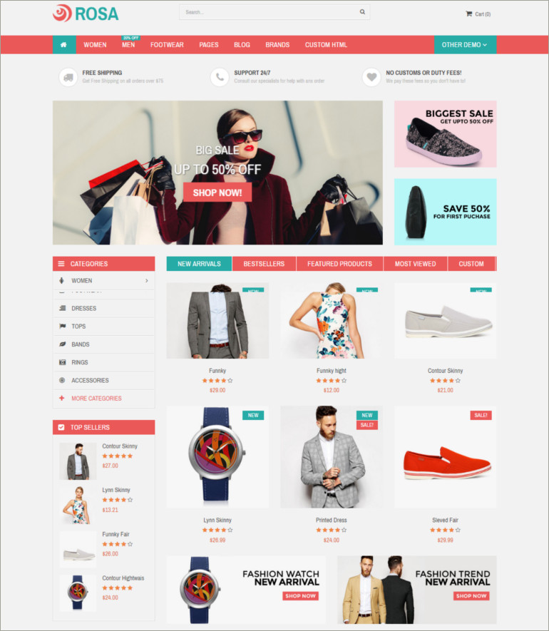 ecommerce apparel theme