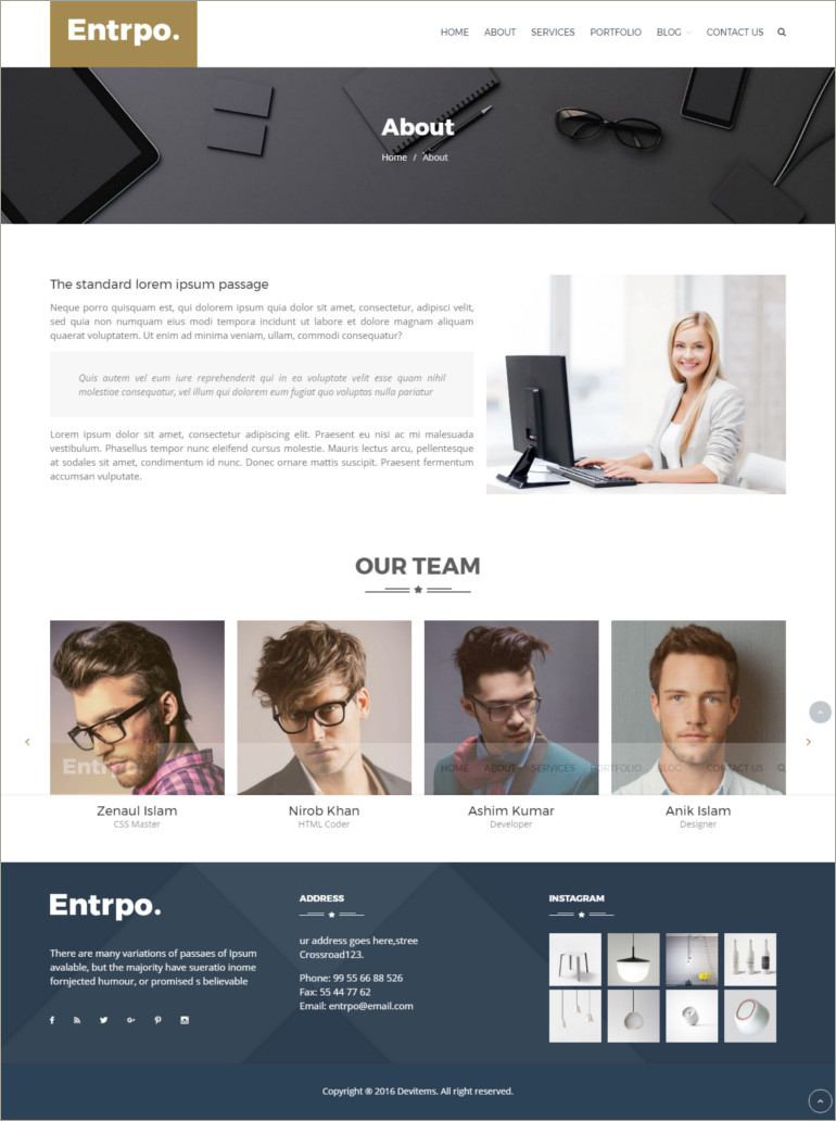 enerprener wordpress theme