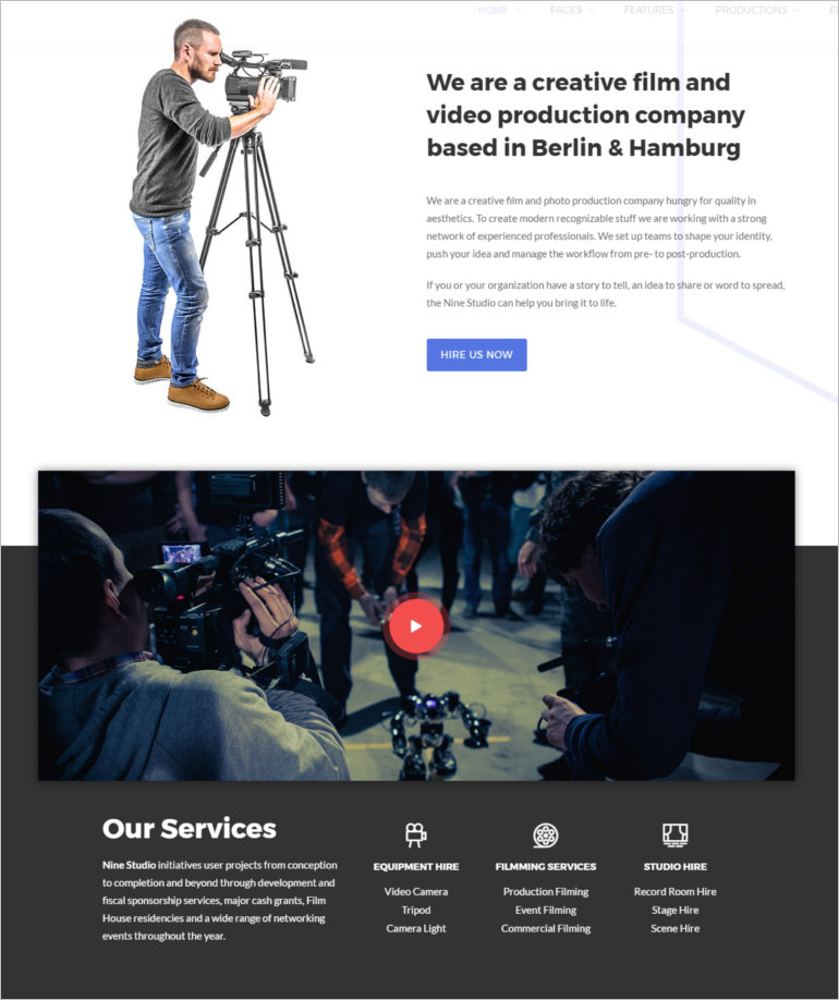 film maker theme