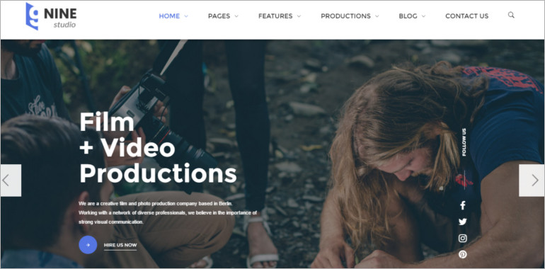 film studio wordpress theme
