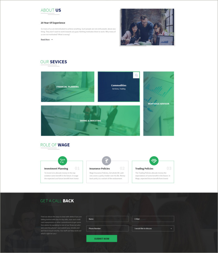 finance psd template