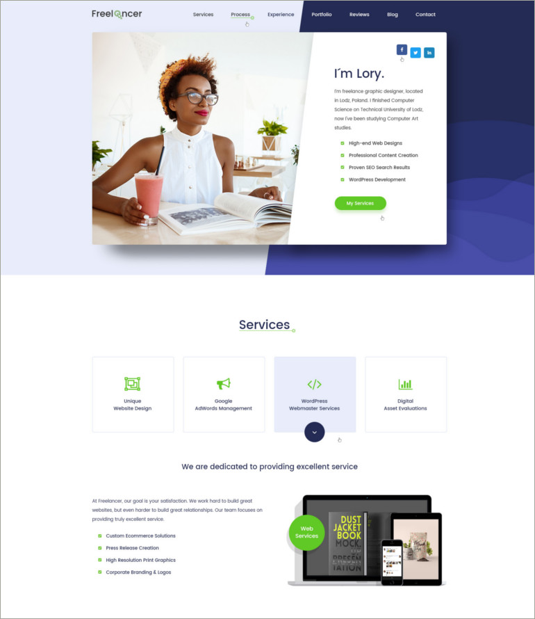 freelance psd template