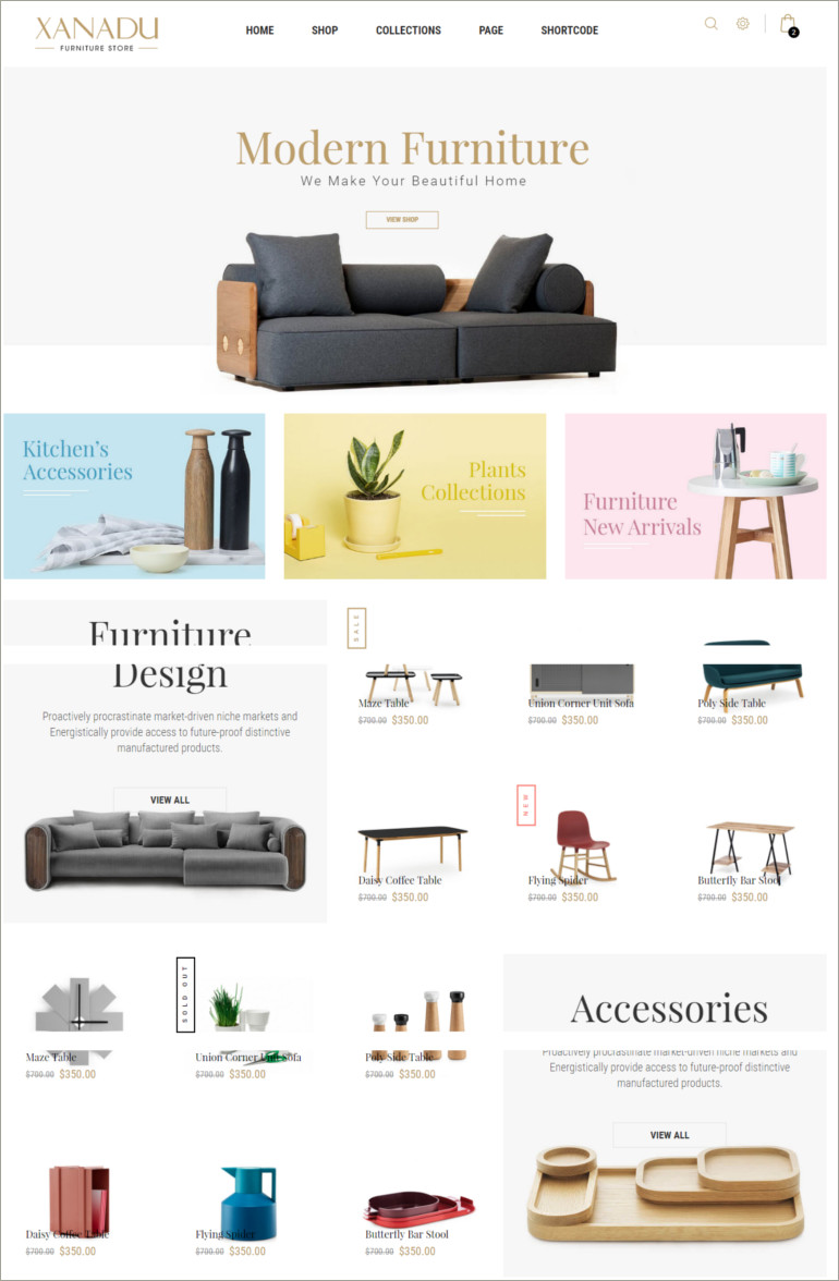furniture website template