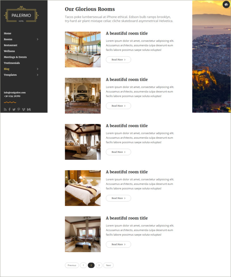 hotel responsive website template