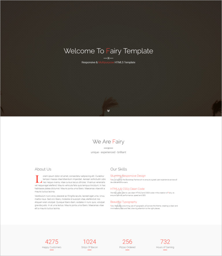 html 5 site template