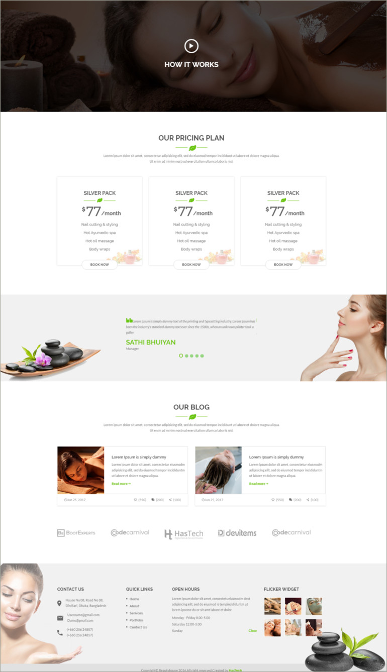 html template for healt and beauty