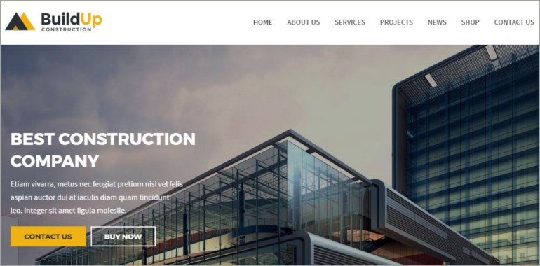 joomla costruction company theme