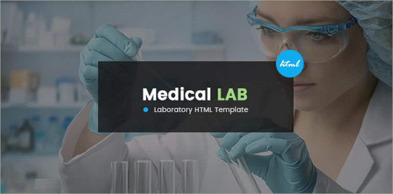 medical lab html template