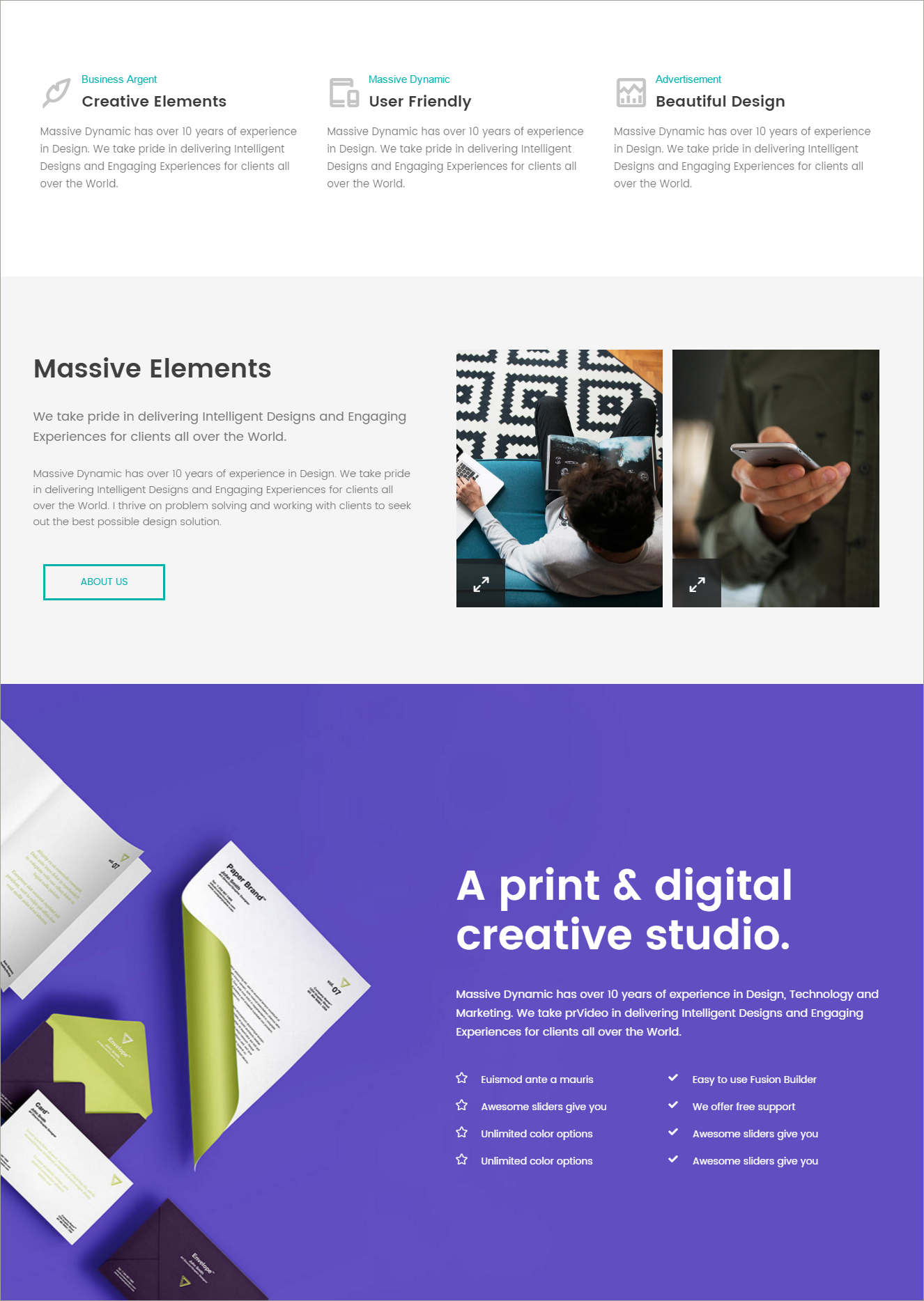page builder theme