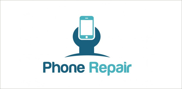 phone repair shop vector