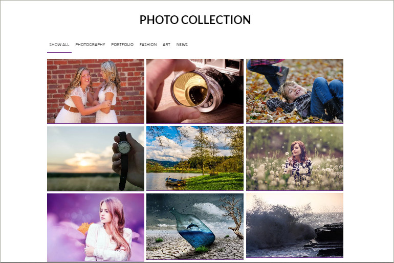 photo collection theme